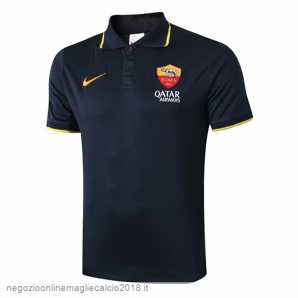 Polo AS Roma 2019/20 Nero Giallo