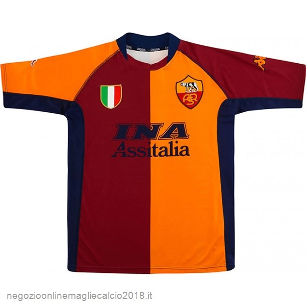Home Online Maglie Calcio As Roma Retro 2001 2002 Oroange