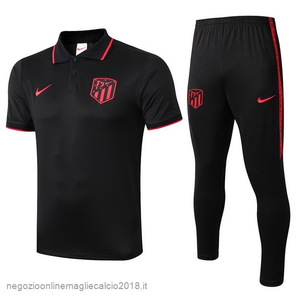 Online Set Completo Polo Atlético Madrid 2019/20 Nero