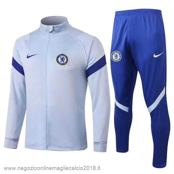 Giacca Chelsea 2020/21 Grigio Luce Blu