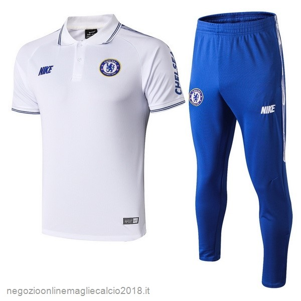 Online Set Completo Polo Chelsea 2019/20 Bianco Blu