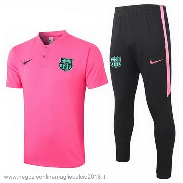 Set Completo Polo Barcellona 2020/2021 Rosa Nero
