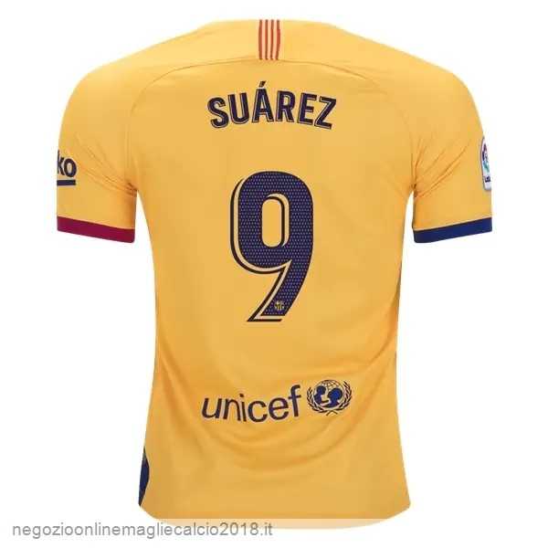 NO.9 Suarez Away Online Maglie Calcio Barcellona 2019/20 Giallo