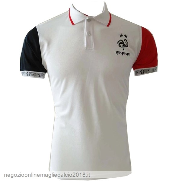 Online Polo Francia 2019 Bianco Rosso