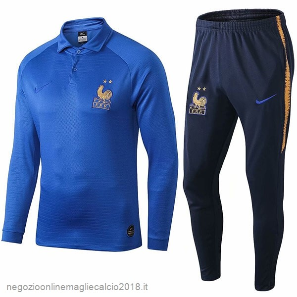 Online Set Completo Polo Francia 100th Blu