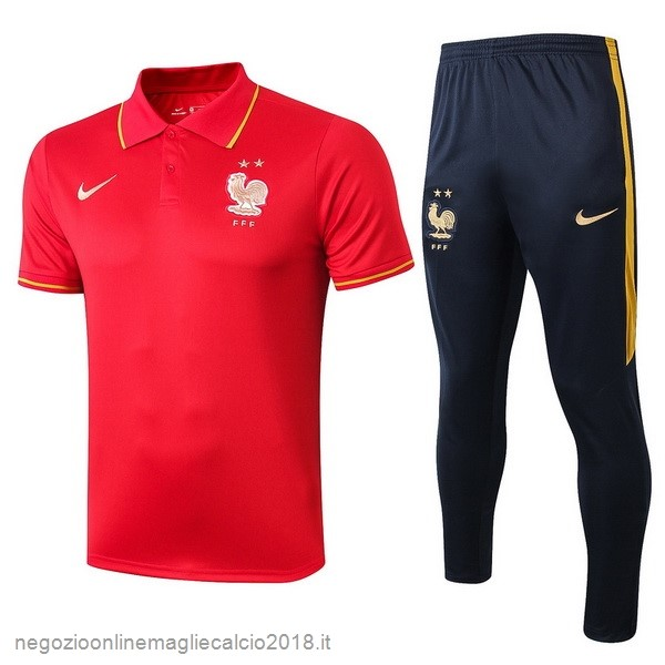 Online Set Completo Polo Francia 2019 Rosso