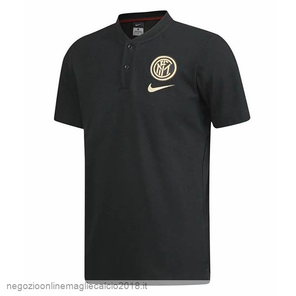 Online Polo Inter Milán 2019/20 Nero Giallo