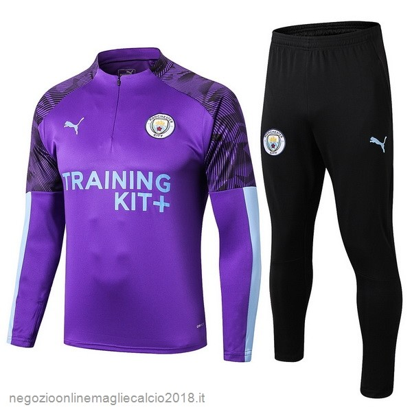 Online Tuta Calcio Manchester City 2019/20 Nero Purpureo
