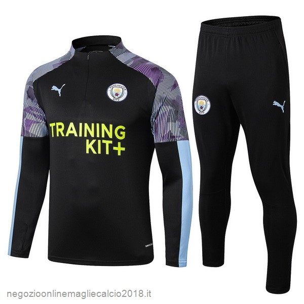 Online Tuta Calcio Manchester City 2019/20 Purpureo Nero