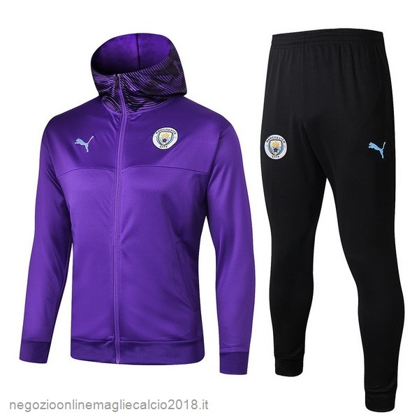 Online Tuta Calcio Manchester City 2019/20 Purpureo Nero1