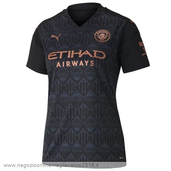 Away Online Maglia Donna Manchester City 2020/2021 Nero