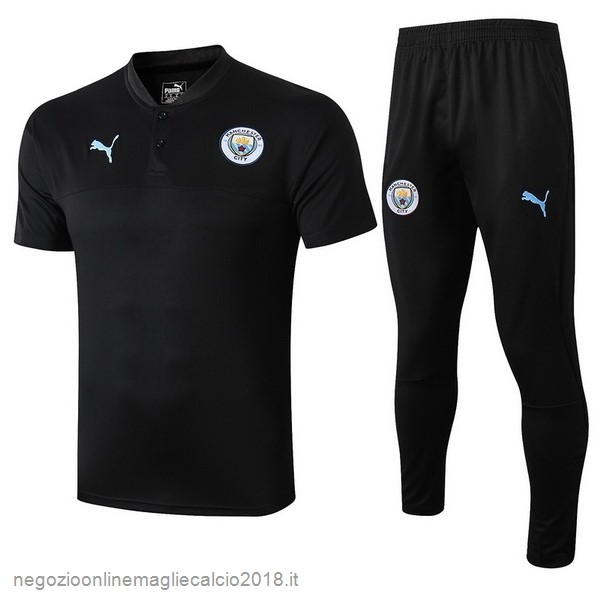 Online Set Completo Polo Manchester City 2019/20 Nero