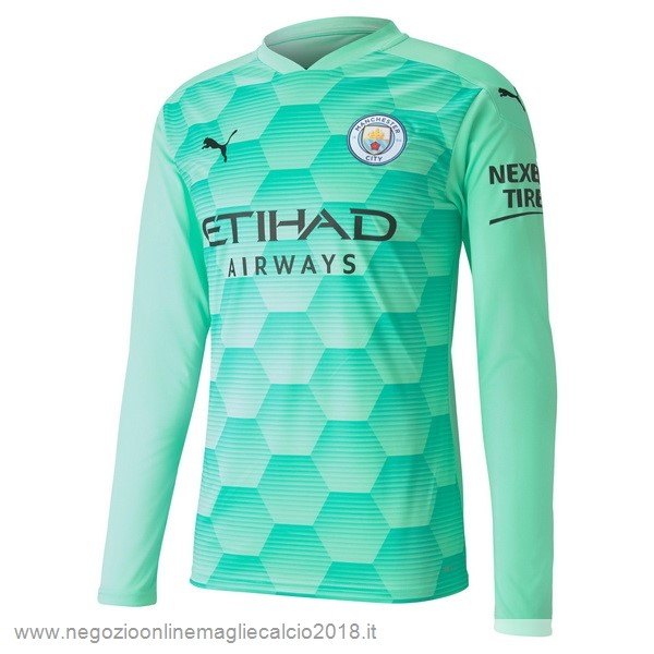 Away Online Manica lunga Portiere Manchester City 2020/2021 Verde
