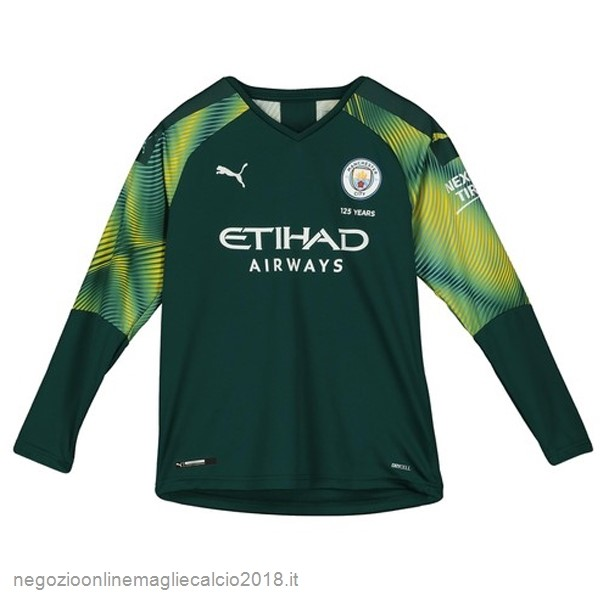 Home Online Manica lunga Portiere Manchester City 2019/20 Verde