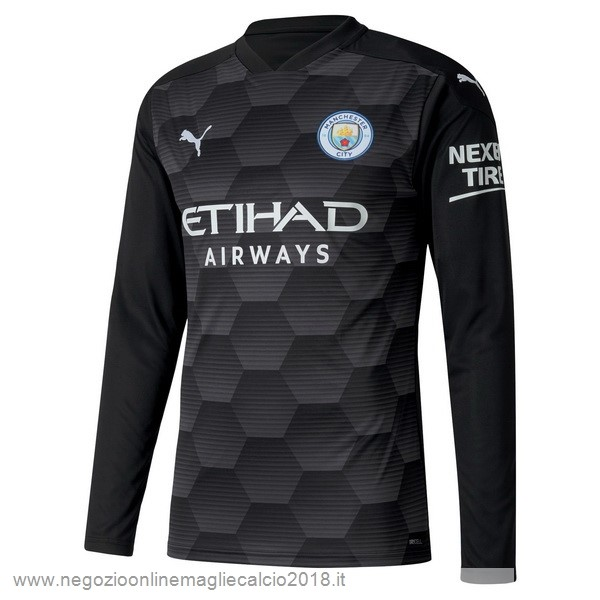 Home Online Manica lunga Portiere Manchester City 2020/2021 Nero