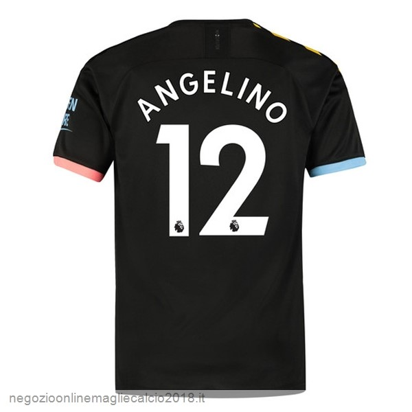 NO.12 Angelino Away Online Maglie Calcio Manchester City 2019/20 Nero