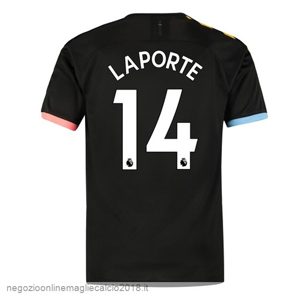 NO.14 LapOrote Away Online Maglie Calcio Manchester City 2019/20 Nero