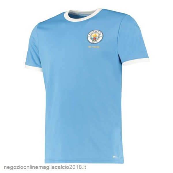Online Maglie Calcio Manchester City 125th Blu Luce