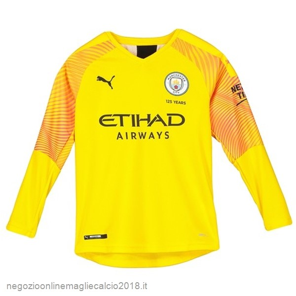 Terza Online Manica lunga Portiere Manchester City 2019/20 Giallo