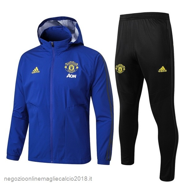 Online Set Completo Giacca a vento Manchester United 2019/20 Blu Nero
