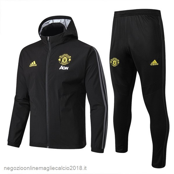 Online Set Completo Giacca a vento Manchester United 2019/20 Nero