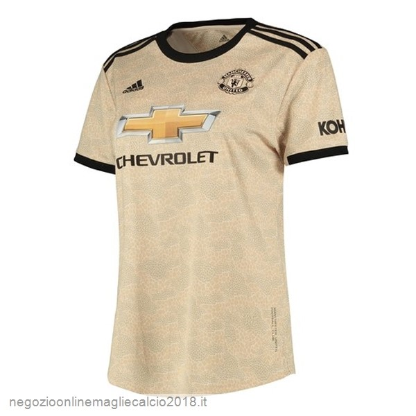 Away Online Maglie Calcio Donna Manchester United 2019/20 Marrone