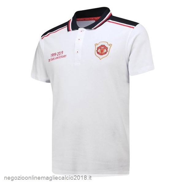 Online Polo Manchester United 20th Bianco