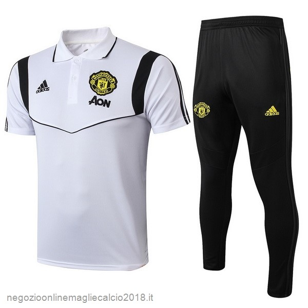 Online Set Completo Polo Manchester United 2019/20 Bianco Nero