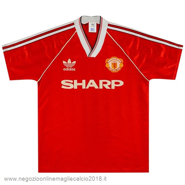 Home Online Maglia Manchester United Rétro 1988 1990 Rosso