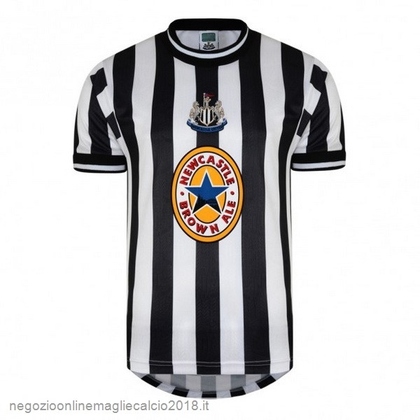 Home Online Maglie Calcio Newcastle United Retro 1997 1998 Nero Bianco