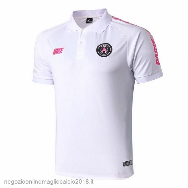 Online Polo Paris Saint Germain 2019/20 Bianco Rosa