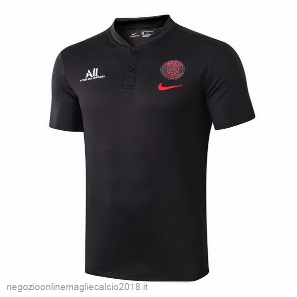 Online Polo Paris Saint Germain 2019/20 Nero Rosso