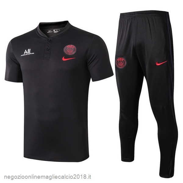 Online Set Completo Polo Paris Saint Germain 2019/20 Nero Rosso