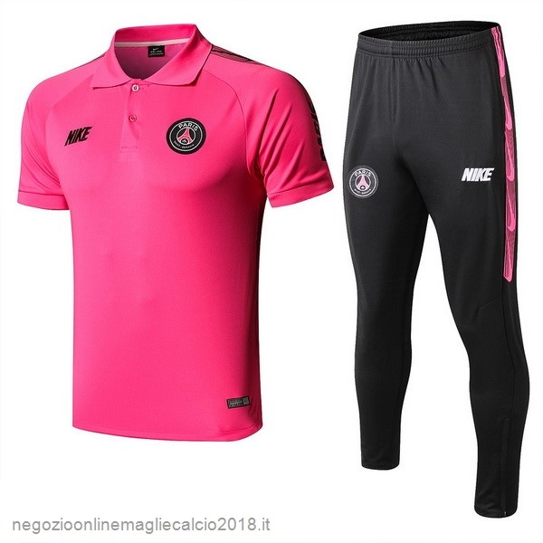 Online Set Completo Polo Paris Saint Germain 2019/20 Rosa Nero
