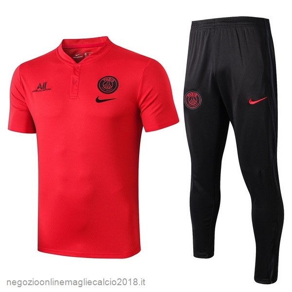 Online Set Completo Polo Paris Saint Germain 2019/20 Rosso Nero