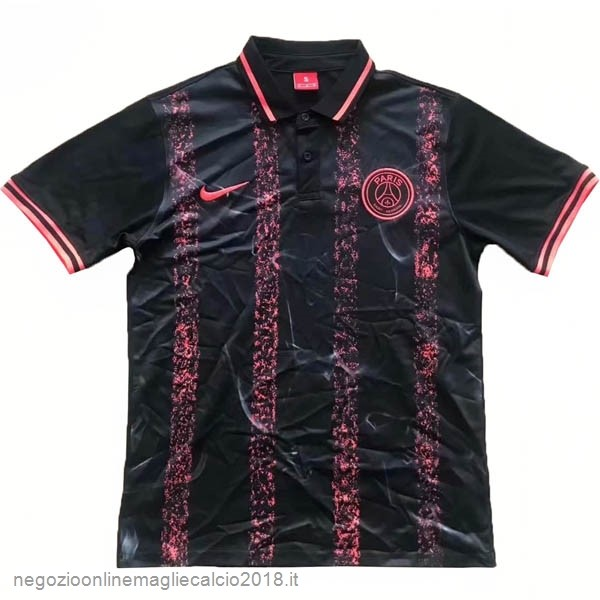 Polo Paris Saint Germain 2019/20 Nero Rosa