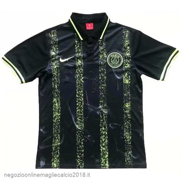 Polo Paris Saint Germain 2019/20 Nero Verde