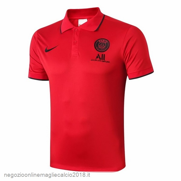 Polo Paris Saint Germain Nero Rosso 2019/20