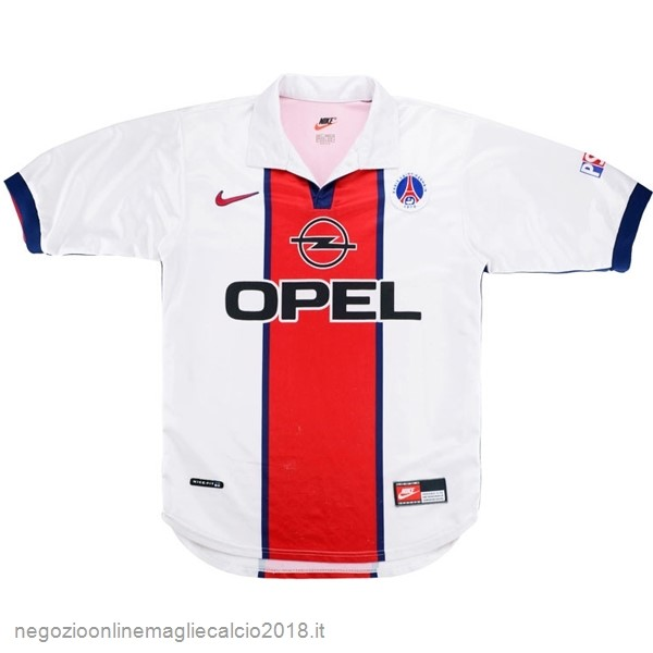 Away Online Maglie Calcio Paris Saint Germain Retro 1998 1999 Bianco