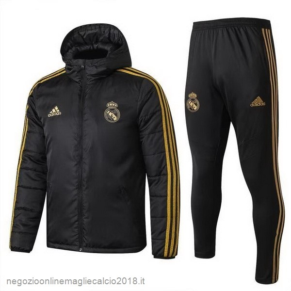 Online Giù Giacca Set Completo Real Madrid 2019/20 Nero
