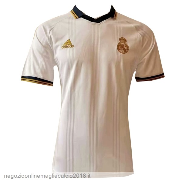 Online Polo Real Madrid 2019/20 Bianco Giallo
