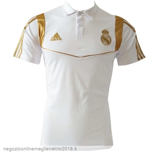 Online Polo Real Madrid 2019/20 Bianco Oro