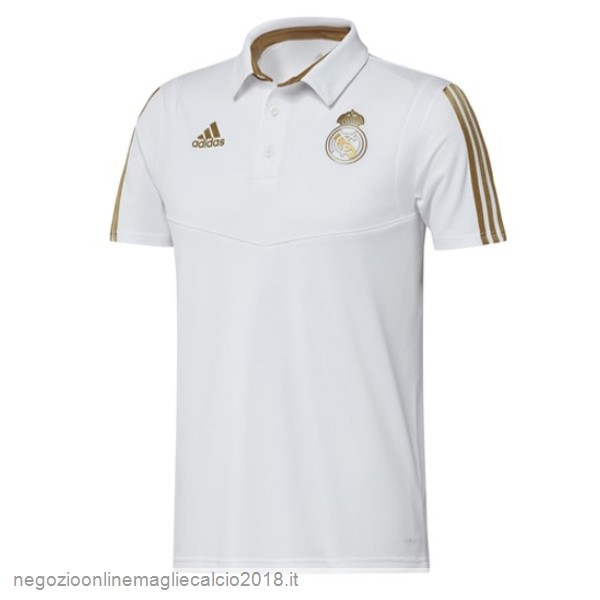 Online Polo Real Madrid 2019/20 Giallo Bianco