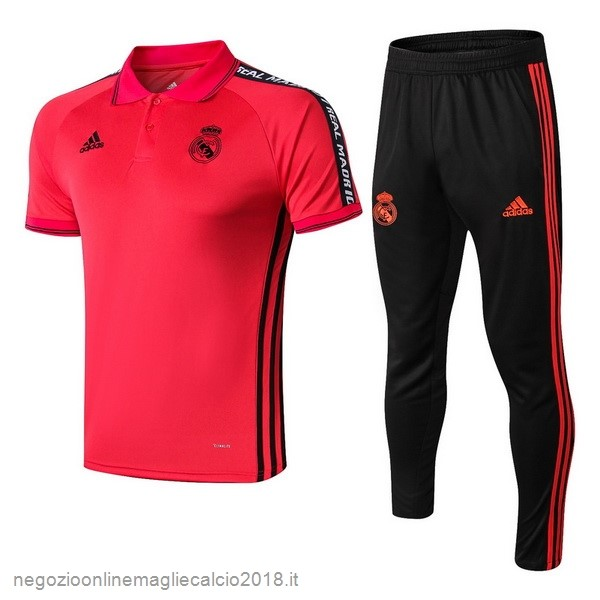 Online Set Completo Polo Real Madrid 2019/20 Rosso Nero