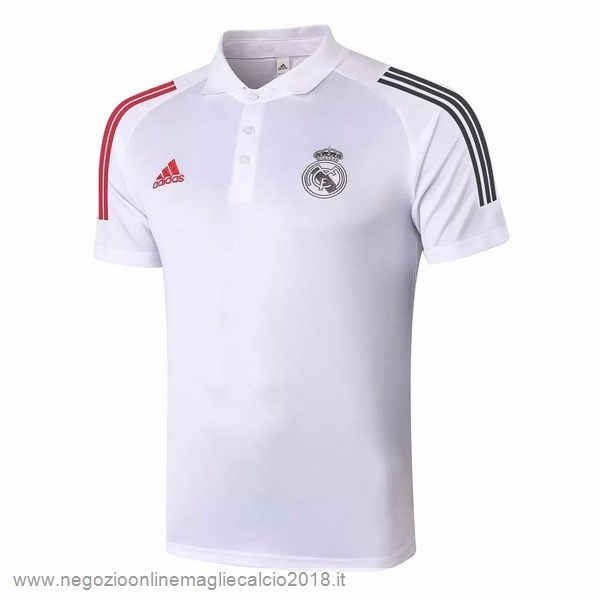 Polo Real Madrid 2020/2021 Bianco Rosso