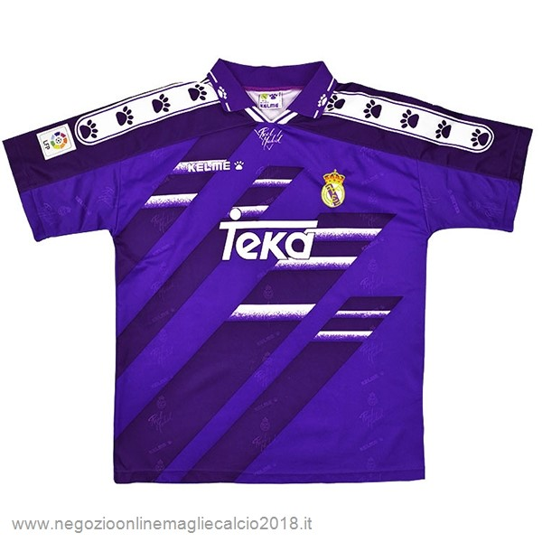 Away Online Maglia Real Madrid Rétro 1994 1996 Purpureo