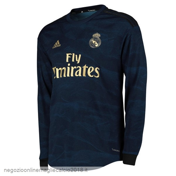 Away Online Manica lunga Real Madrid 2019/20 Blu