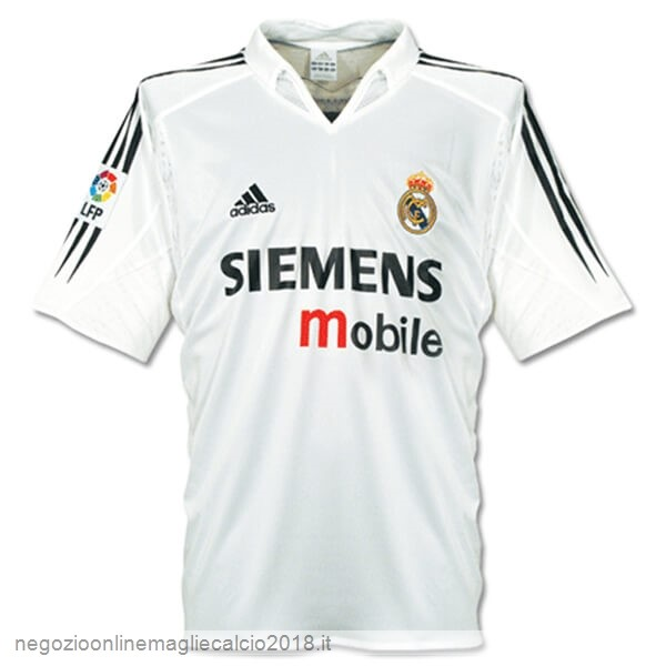 Home Online Maglie Calcio Real Madrid Retro 04 05 Bianco
