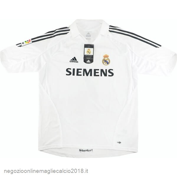 Home Online Maglie Calcio Real Madrid Retro 05 06 Bianco