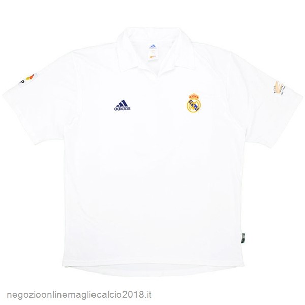 Home Online Maglie Calcio Real Madrid Retro 2001 2002 Bianco